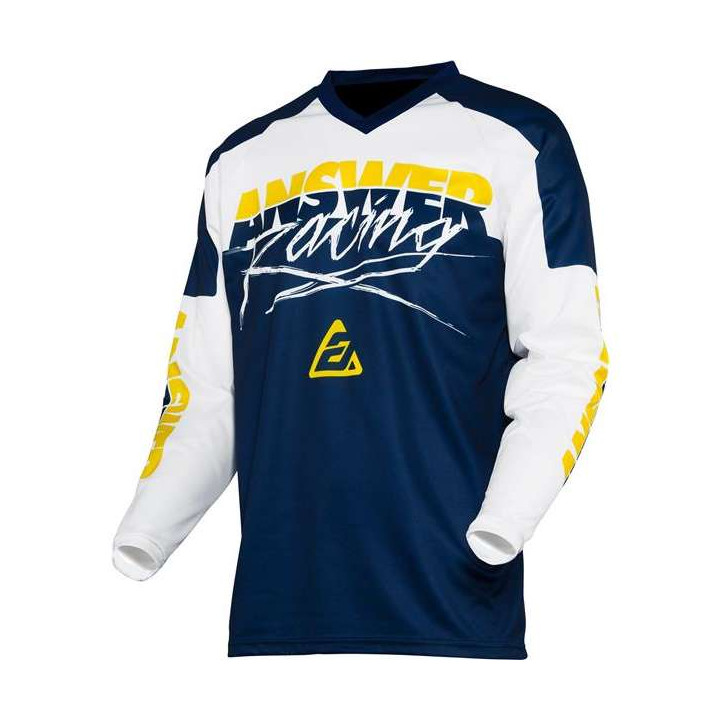 Maillot moto cross enfant Answer 2020 YOUTH SYNCRON PRO GLOW Yellow/Midnight/White