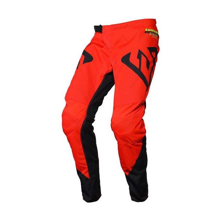 Pantalon moto cross Answer SYNCRON PRO GLOW 2020 Red/Black/Hyper Acid