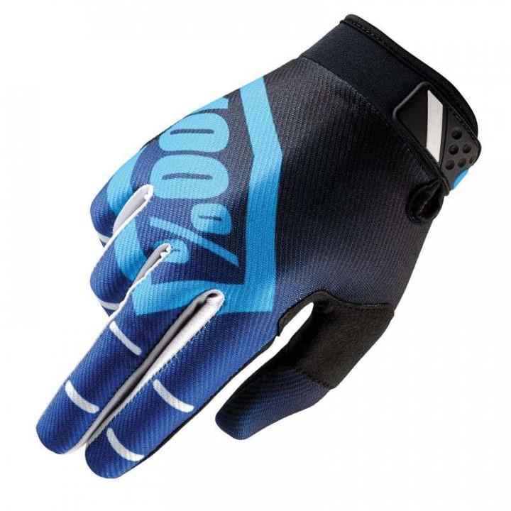 Gants moto cross 100% RIDEFIT CORPO BLUE