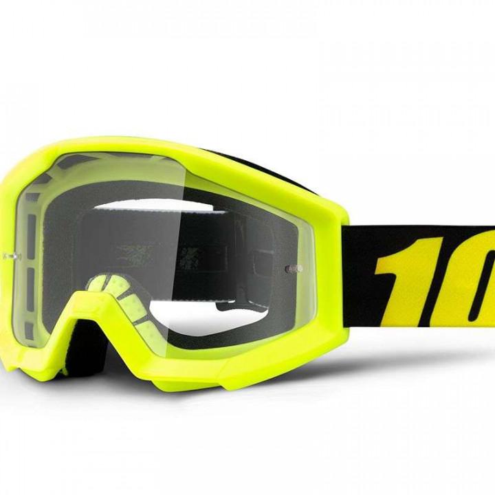 Masque moto cross enfant 100% STRATA NEON YELLOW