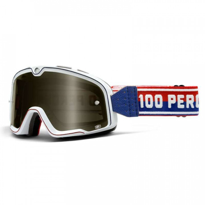 Masque moto 100% BARSTOW CLASSIC WHITE