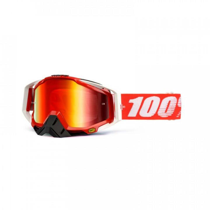 Masque moto cross 100% RACECRAFT FIRE RED IRIDIUM