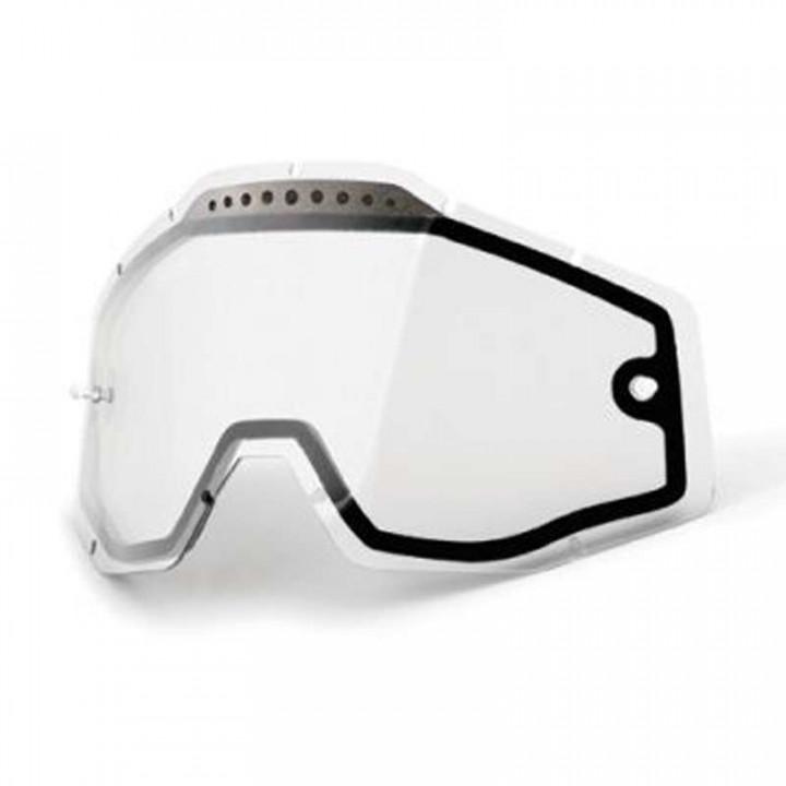 Double écran ventilé clair pour masques 100% RACECRAFT, ACCURI et STRATA